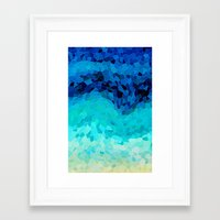 calm Framed Art Prints featuring INVITE TO BLUE by Catspaws