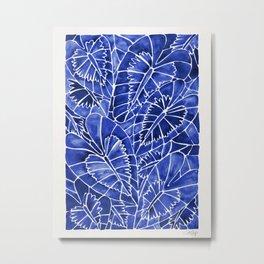 Schismatoglottis Calyptrata – Navy Palette Metal Print