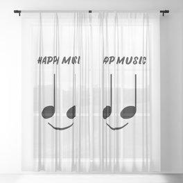 Happy Music Sheer Curtain