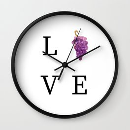 Lover of Wine  Wall Clock