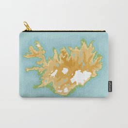 Iceland Retro Pixel Map Carry-All Pouch