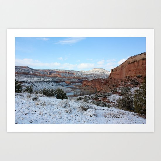First Snow II Art Print