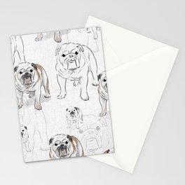 Bulldogs pattern Stationery Cards