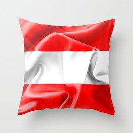 Austria Flag Throw Pillow