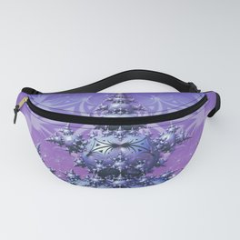 Crystallice. Abstract 3D Fractal Art Fanny Pack