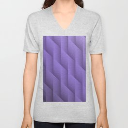 Gradient Purple Diamonds Geometric Shapes Unisex V-Neck