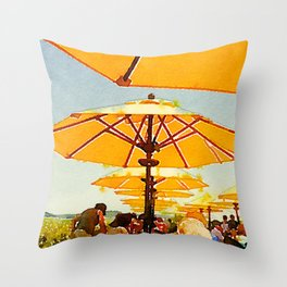 Bar Harbor Inn, Maine Throw Pillow