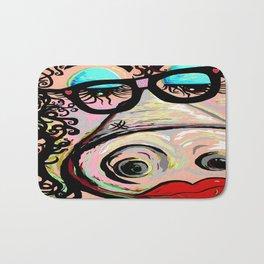 Hipster Pig Bath Mat