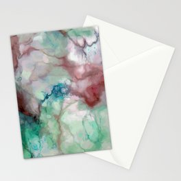 Colorful watercolor marble Stationery Cards