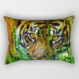 Grass Cat Rectangular Pillow