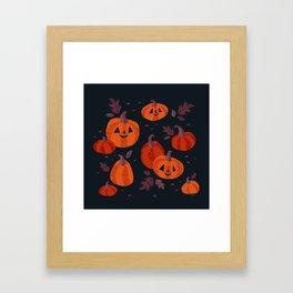 Pumpkin Patch Framed Art Print