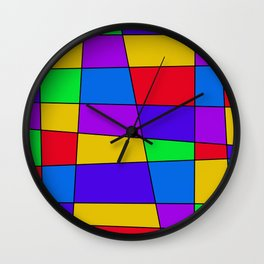 Colorful Window Two Wall Clock