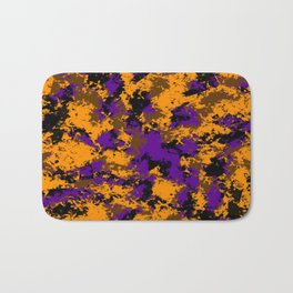 Camping, Purple Night Sky Through the Trees; Fluid Abstract 59 Bath Mat