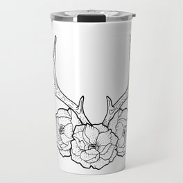 Deer vs Flowers Travel Mug