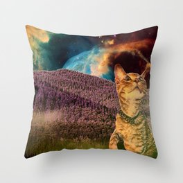 it just feels Throw Pillow