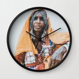 Indian Tribal Woman Wall Clock