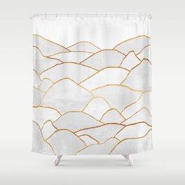White Hills Shower Curtain