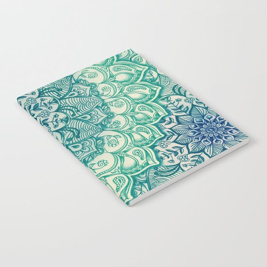 Emerald Doodle Notebook