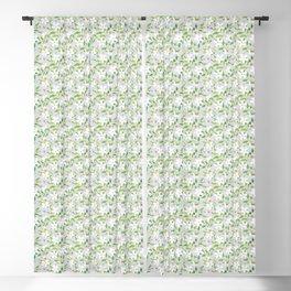 Jasmine Delight Silver Blackout Curtain