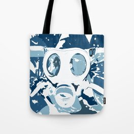 Gasmask Blues Tote Bag