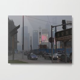 Pollution Metal Print