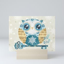 Winter Wonderland Owl Mini Art Print