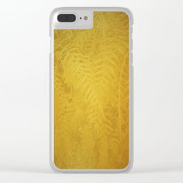 Gold Leaves Clear iPhone Case