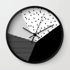 Geometry Blocks 10 Wall Clock