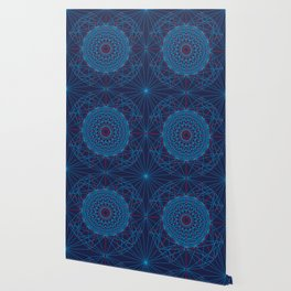 Geometric Circle Blue/Red Wallpaper