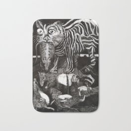 Cat & Rats Bath Mat