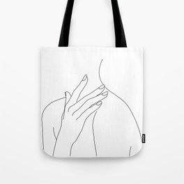 Female body line drawing - Danna Tote Bag