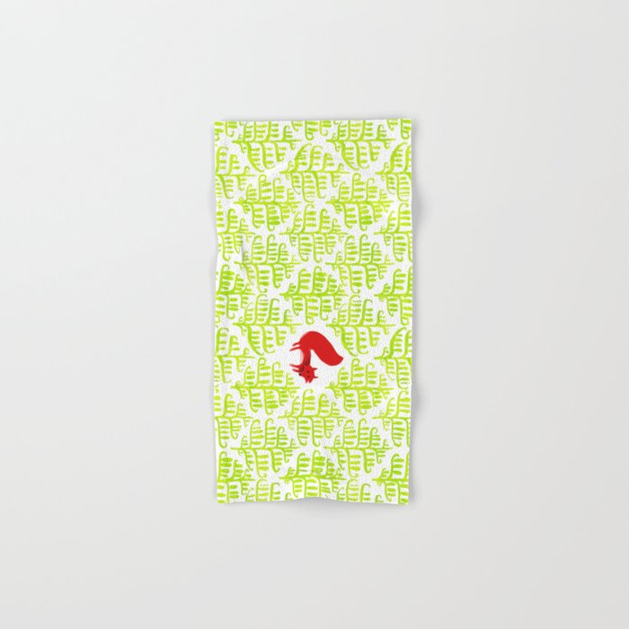 Damask forest pattern Hand & Bath Towel