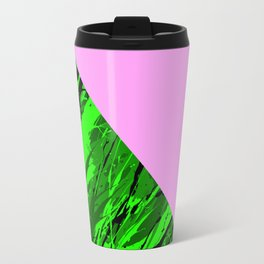 Green Forest Pink Sky Travel Mug