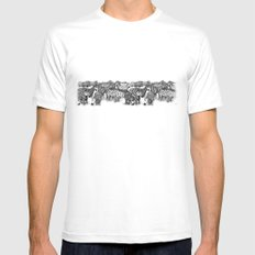 Zebra Print White Mens Fitted Tee MEDIUM