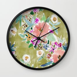 K.I.S.S. Colorful Floral Wall Clock