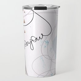 Minimalist Bonjour Organic Abstract Curves and Shapes Travel Mug