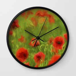 Poppyflower II Wall Clock