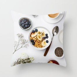 healthy breakfast Throw Pillow
