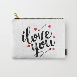 I love you typography Carry-All Pouch