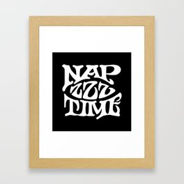 Nap Time Black and White Framed Art Print