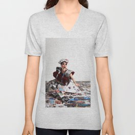 Trapped In the Fashion Unisex V-Neck