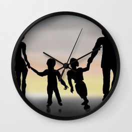 Family Sillouette   Wall Clock