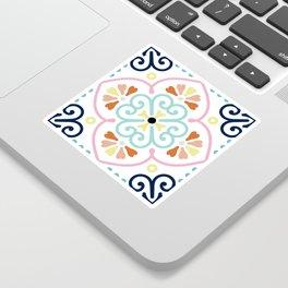 Pastel Moroccan Pattern Sticker