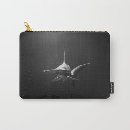 Hammerhead Shark (Black and White) Carry-All Pouch