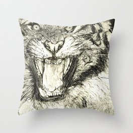'Eye Of The Tiger' (2017) Throw Pillow