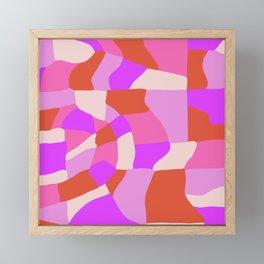 faye patchwork Framed Mini Art Print