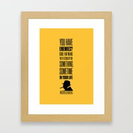 Lab No. 4 - Winston Churchill Inspirational Quotes Poster Framed Art Print