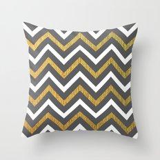 Metallic Zigzag Throw Pillow
