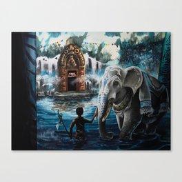 Shangri-La Art - Turquoise Canvas Print