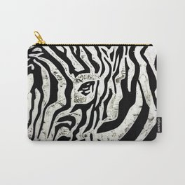Inconspicuous Zebra Carry-All Pouch